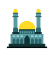 great cyan islamic mosque building design vector image vector image