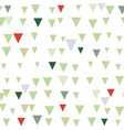 green and red abstract triangle christmas seamless vector image vector image