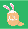 greeting card with image easter bunny vector image