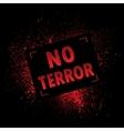 Grunge banner terror vector image
