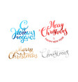 happy new year lettering logos collection vector image