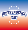 Independence Day usa banner on red and blue vector image vector image