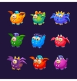Little Alien Monsters With And Without Wings Set vector image vector image