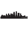 louisville kentucky skyline detailed silhouette vector image