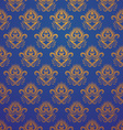 Pattern Gold and Blue vector image vector image