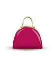 pink clutch bag vector image vector image