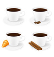 porcelain cup with coffee 01 vector image vector image