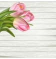 Postcard with pink flowers EPS 10 vector image vector image