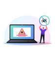 protection computer virus antivirus software vector image vector image