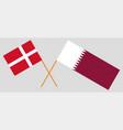 qatar and denmark the qatari and danish flags vector image