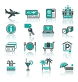 recreation travel vacation icons set vector image vector image