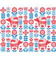 scandinavian nordic folk seamless pattern vector image