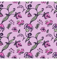 Seamless pattern birds and flowers vector image vector image
