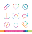 set from 9 colorful icons for web and mobile vector image