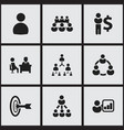 set of 9 editable cooperation icons includes vector image
