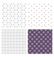 set of abstract geometric hipster fashion design vector image vector image