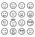 Set of outline emoticons emoji vector image vector image