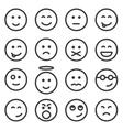 set outline emoticons emoji vector image vector image