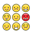 simple yellow emoticons vector image vector image