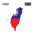taiwan map border with flag eps10 vector image