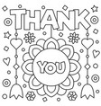 thank you coloring page vector image