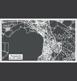 thessaloniki greece city map in retro style vector image vector image