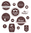 Travel and vacation emblems set vector | Price: 1 Credit (USD $1)