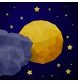 triangle background with moon vector image vector image