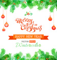 watercolor Christmas background vector image vector image