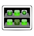 Www click green app icons vector image