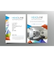 Colorful triangle brochure flyer template design vector image
