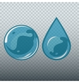 Transparent underwater bubble and drop vector image