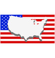 usa color map flag on white vector image