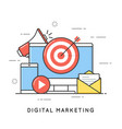 digital marketing internet advertising and vector image