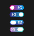 5g networks concept set modern material vector image