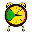 alarm clock icon icon cartoon vector image vector image