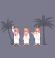 arabian men character vector image vector image