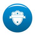 badge warrior icon blue vector image vector image