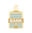 bank building isolated financial institution vector image