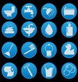 bathroom and toilet icon set gradient style