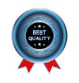 best quality icon vector image vector image