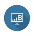 bitcoin growing chart icon vector image vector image