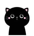 black cat kitten kitty silhouette icon cute vector image vector image