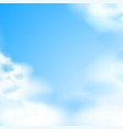 blue sky white clouds natural backdrop vector image