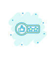 cartoon customer review 2 stars icon in comic vector image vector image