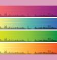 casablanca multiple color gradient skyline banner vector image vector image