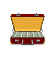 Case full of dollar vector image