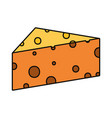 cheese piece icon vector image