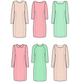 Classic dresses vector image vector image