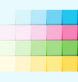 colorful gradient paper notes background reminder vector image